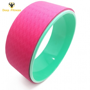 Colorful Circle yoga ring ABS Double Layers exercise yoga wheel